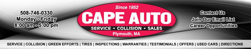 "Auto Collision expert -SERVICES-All Foreign & Domestic Repairs,Computer Diagnostic Service,Transmission Specialists,All General Repairs,Tune-up Specialists,Emission Repair,Brake Service,Computer Wheel Balancing,Wheel Alignment,Complete Auto Body & Painting,Complete Car Detailing,Towing & Road Service,Used Cars For Sale,""Free Ride"" Courtesy Shuttle,Inspection Stickers,5 Star Rated by The State of MA,Recommended by All Major Insurance Companies"
